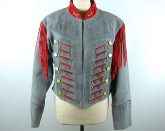 Gray Leather Jacket by Pioneer Wear, Size Large