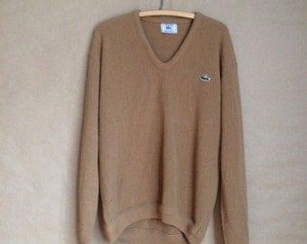 vintage 80's 1980's Izod knit sweater / pullover sweater / alligator emblem / minimalistic / retro prep / oversized baggy fit