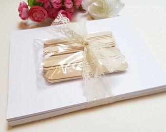 DIY Wedding Program Fan Kit / Printable Fan Program / Wedding Hand Fan / DIY Fan Kit with Choice of Program Printable - Standard Package