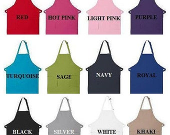 Mongrammed Apron - Personalized Apron - YOU CHOOSE COLOR