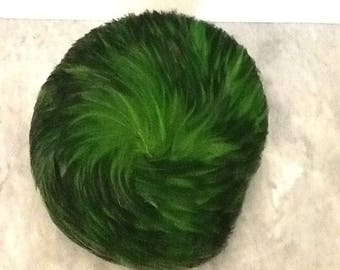 Green Feather hat by Milbrae