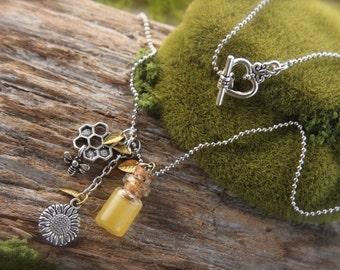 Bee Honey Bee Necklace