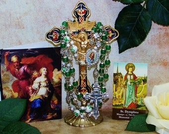 Unbreakable Catholic Rosary of St. Dymphna - Patron Saint of Mental Health, Therapists, Rape Victims and People w/ Nervous Disorders