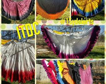 15yd Hand Dyed 2 color skirt