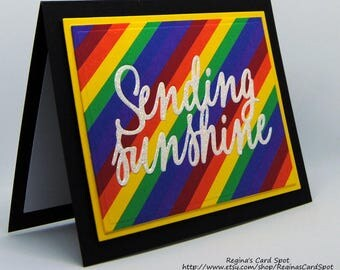 Rainbow Sending Sunshine Thinking of You card