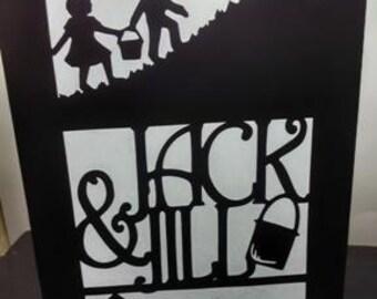 Jack and Jill centerpiece / luminary