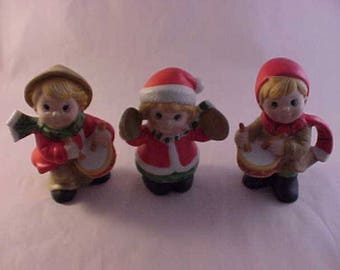 3 Porcelain Christmas Figurines Christmas Holiday Decorations