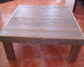 Rustic Grey Barn Wood Coffee Table