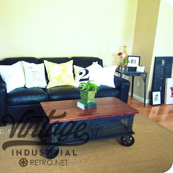 Industrial Tv Stand And Coffee Table: Ellis Coffee Table / Vintage Industrial Flat Panel TV Stand On