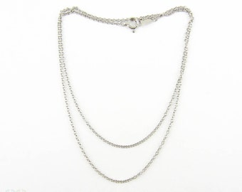 Platinum Trace Chain for Pendant, Fully Hallmarked. 40.5 cm / 16 inches, 2.3 grams.