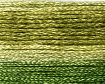 Cosmo, 6 Strand Cotton Floss, SE80-8016, Seasons Variegated Embroidery Thread, Dark Greens, Wool Applique, Cross Stitch, Embroidery