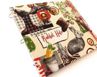 Photo album with magical rabbit fabric theme