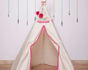 Girls teepee/ girls play tent/ girls tent/ kids teepee/ tipi tent for & Teepee with poles kids tipi teepee 5 pole teepee tent