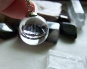 Natural Quartz Crystal Ball Jewlery Pendant Necklace