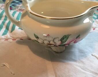 Vintage Creamer Magnolia Nautilus Homer Laughlin Cunningham Pickett Made in The USA #4105