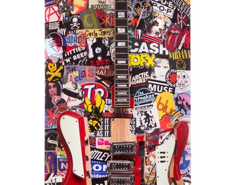 Only Rock And Roll Guitar Sculpture by Chris Blake Chappell