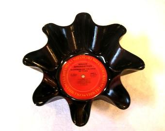Bruce Springsteen Record Bowl Made From Repurposed Vinyl Album