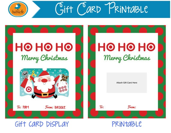 digital christmas printable gift card printable christmas. Black Bedroom Furniture Sets. Home Design Ideas