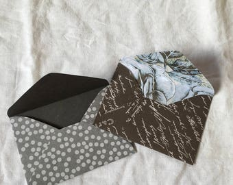 Petite Vintage Grey and Blue Envelopes