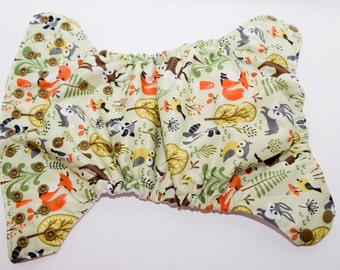 Story Book Buddies Cloth Diaper - One Size Cloth Diaper - OS Baby Diaper  - Cloth Cover - Pocket Diaper - AI2 Diaper - Velcro or Snaps
