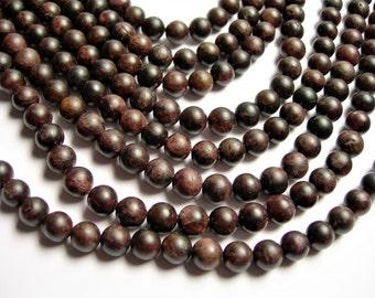 Garnet - 8 mm round beads - matte - 1 full strand - 48 beads - matte garnet - A quality -  RFG424