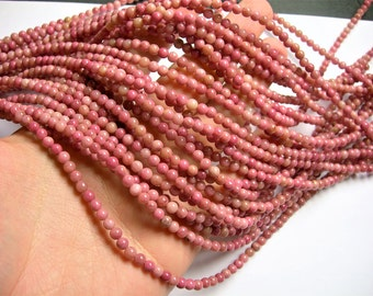 Rhodonite - 4mm( 4.3mm) round - full strand - 90 beads - RFG341