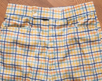 Di Fini Plaid Golfer Pants, Crazy Disco Mod Funk Style Slacks, Vintage 60s, Men's Golfing Apparel, Golf Fashion, 30x26 Hemmed, Like New, 28
