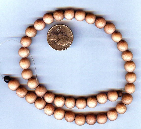 Stunning High Quality MATTE Rosewood Wood Beaded Bracelet or Necklace