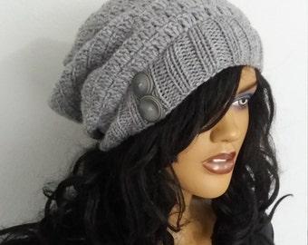 Crochet Gray color Hat,beret