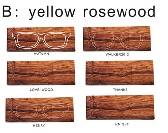 Customized handmade yellow rosewood frames prescription glasses sunglasses TAKEMOTO