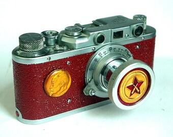 "1955 Red ""FED-1"" camera rare RUSSIAN LEICA  -=Felix Dzerzhinsky=-"