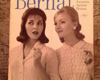 Vintage 1960 Bernat Handicrafter Knitting Pattern Book 85