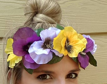 Don't be a pansy flower crown