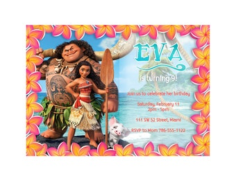 Moana Birthday Digital Invitation
