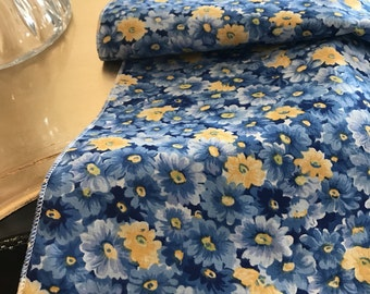 Blue Yellow Table Runner | French Provincial | Provencal | Floral | Summer Table Runner | Floral Table Runner