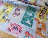Vintage Postcards by Michiko Sonobe for Yuwa Fabric - MC824285 - B