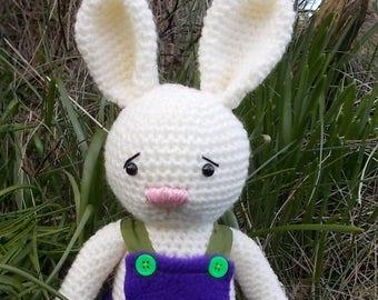 Amigurumi rabbit, crocheted rabbit, cream rabbit, crocheted bunny, Amigurumi bunny, crocheted animal, plush rabbit, plush bunny