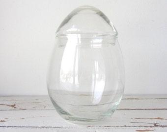 Vintage Libbey Glass Egg Terrarium Small