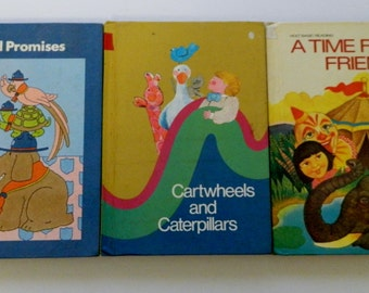 Three HB Basic Reading Books for Children Holt Rand McNally Harper & Row 1970's