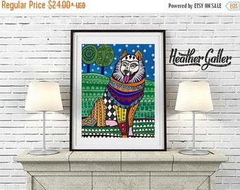 50% Off Today- Samoyed Art Gift  Art Print Poster by Heather Galler (HG814)