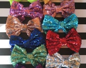 On Sale Sequin Bow Clip Baby Toddler Kids Bow Hair Bow Headband Sequin Bow Mint Bow Pink Bow Sparkle Bow Headband Bow Black Bow Gold
