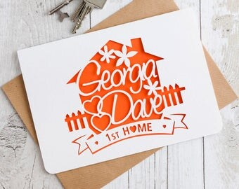 New Home Paper Cut Card