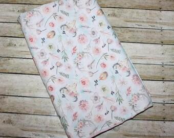 Baby Blanket- Floral Baby Blanket- Baby Girl Blanket- Minky Blanket-Monogram Blanket-Nursery Blanket-Girl Baby Blanket