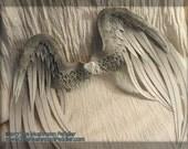 "Angel Doll Wings 20""- Handmade/painted - White"