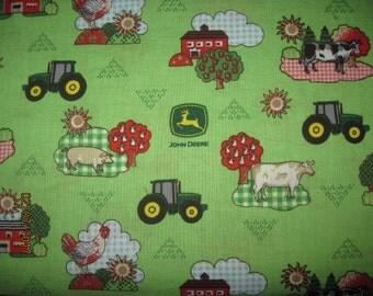 18X22, MY JOHN DEERE, Cotton Fabric, Fat Quarter, john deere, john deere nursery, nursery fabric, kids john deere fabric,