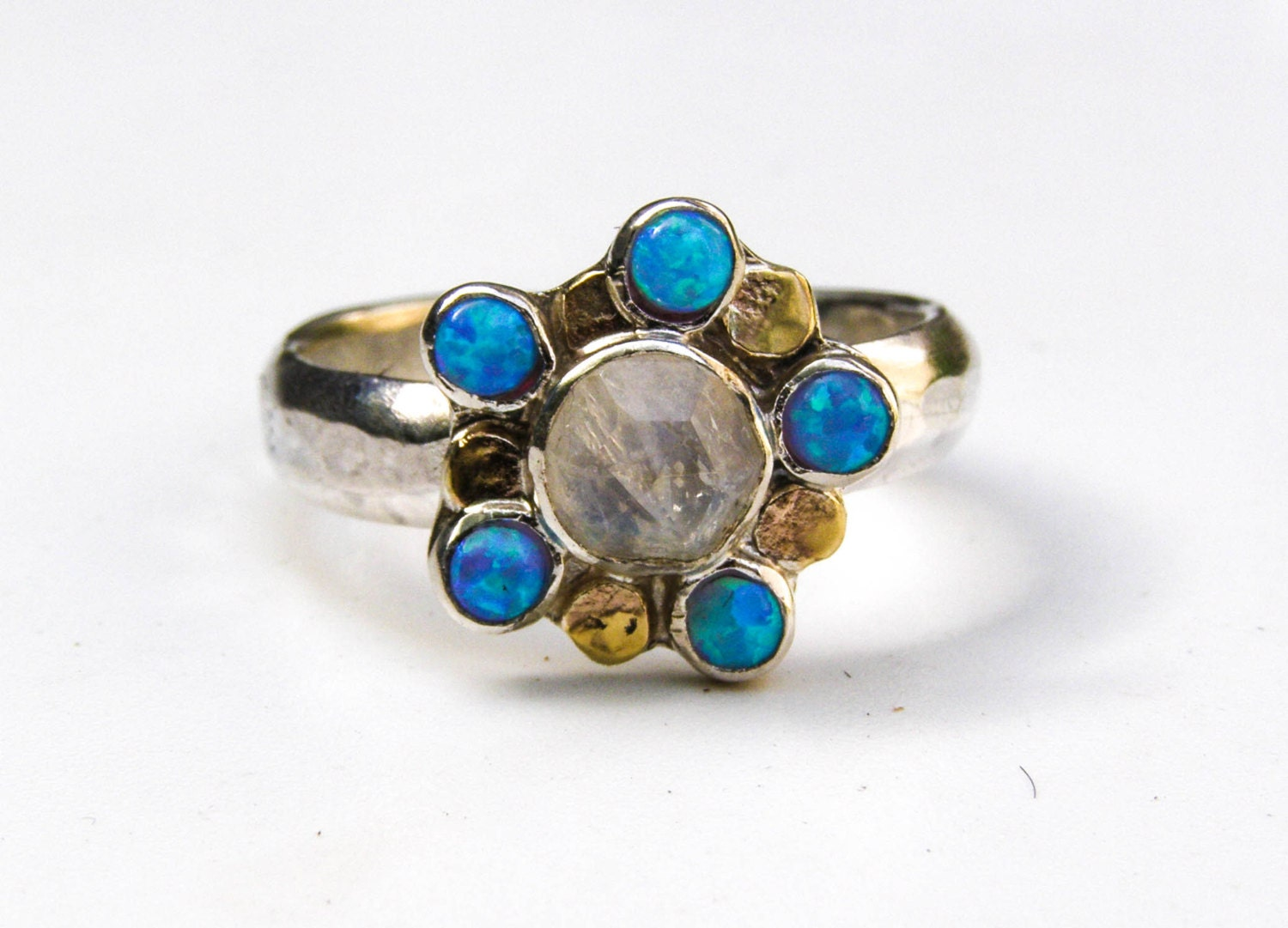 unique engagement ring opal ring moonstone ring gemstone