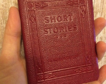 SHORT STORIES by Guy De Maupassant -  Miniature Book Little Leather Library 1920s Robert K Haas Inc Antique Vintage