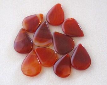 Carnelian, Teardrop Pendant, Gemstone Pendant, Red Agate Gemstone, Jewelry Making Bead, Focal Bead, Pendant Bead, Agate Pendant, (1)