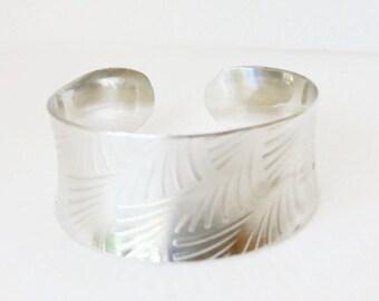 Silver Anticlastic Cuff Bracelet Bracelet, Argentium Silver, Tarnish Resistant
