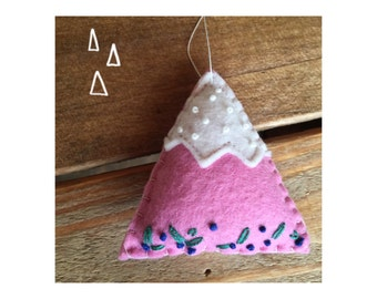Mountain felt ornament